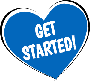 Get Started Heart Button