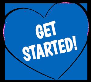 Get Started Heart Button